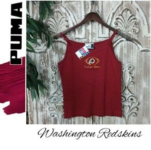 PUMA Redskins Embroidered Spaghetti Strap Tank Top